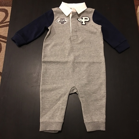 Ralph Lauren Polo Baby Boys Crested Patch Romper Coverall 3 M Months